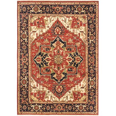 Serapi Heritage Hand-Knotted Red Area Rug Rug Size: 911 x 137