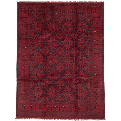 Finest Khal Mohammadi Hand-Knotted Red Area Rug