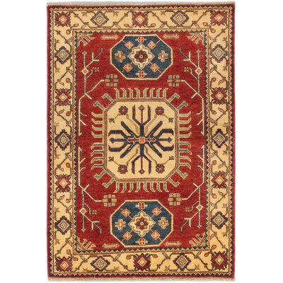 Finest Gazni Hand-Knotted Red/Beige Area Rug