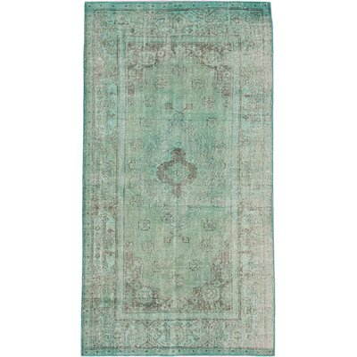 Color Transition Hand-Knotted Aqua 2 Area Rug