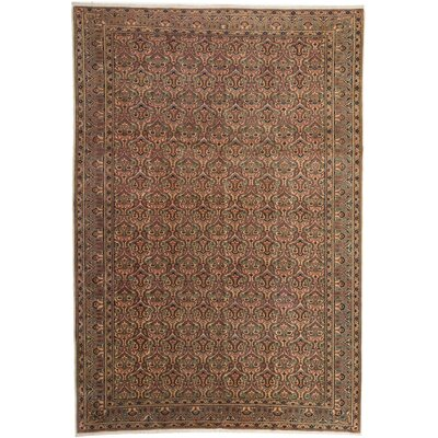 Keisari Hand-Knotted Brown Area Rug
