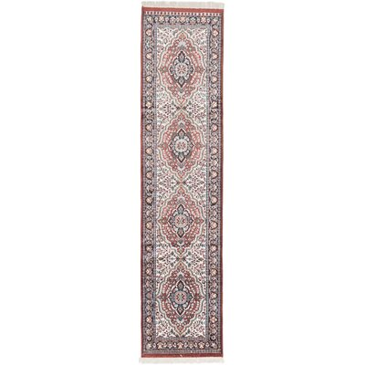 Kashmir Kerman Hand-Knotted Taupe Area Rug
