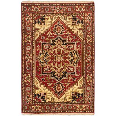 Serapi Heritage Hand-Knotted Dark Copper Area Rug Rug Size: 310 x 510