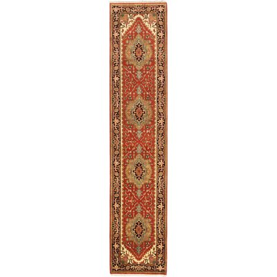 Serapi Heritage Hand-Knotted Copper Area Rug Rug Size: Runner 26 x 119