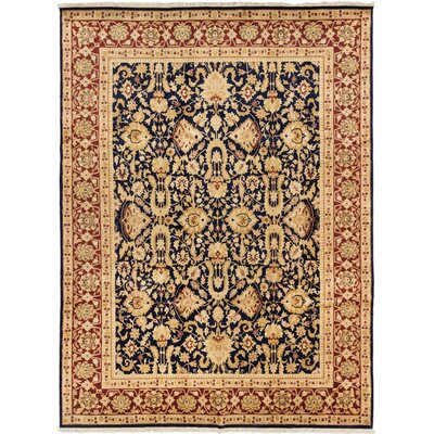 Sino Persian 180L Hand-Knotted Dark Navy Area Rug
