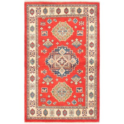 One-of-a-Kind Finest Gazni Hand-Knotted Red/Beige Area Rug