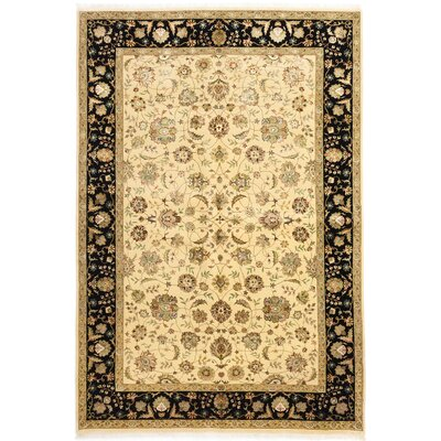 Harrir Select Hand-Knotted Cream Area Rug
