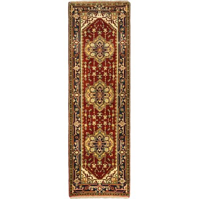 One-of-a-Kind Baldry Hand-Knotted Dark Copper Area Rug