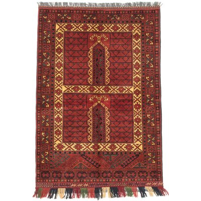 One-of-a-Kind Finest Khal Mohammadi Hand-Knotted Dark Orange-Red Area Rug Rug Size: 36 x 5