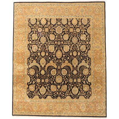 Mirzapur Hand-Knotted Black/Beige Area Rug
