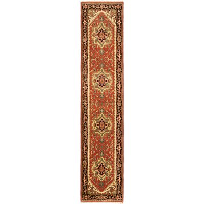 One-of-a-Kind Baldry Hand-Knotted Copper Area Rug