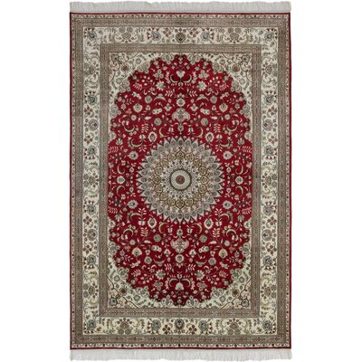 300L Silk Hand-Knotted Red Area Rug