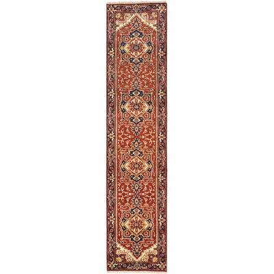 One-of-a-Kind Serapi Heritage Hand-Knotted Dark Copper Area Rug Rug Size: Runner 27 x 119