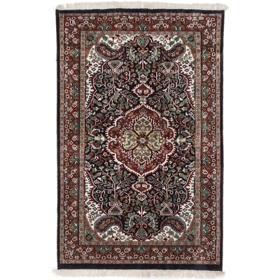 One-of-a-Kind Kashmir Kerman Hand-Knotted Dark Copper Area Rug