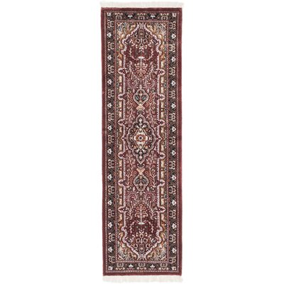 One-of-a-Kind Kashmir Kerman Hand-Knotted Rust Area Rug