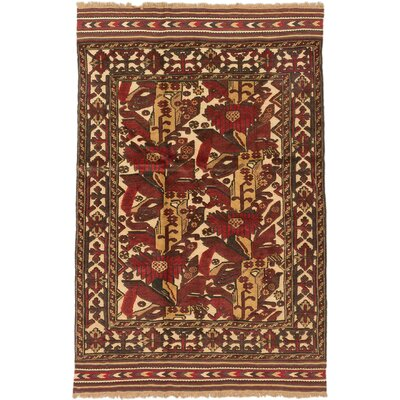 Tajik Tribal Hand-Knotted Light Gold Area Rug