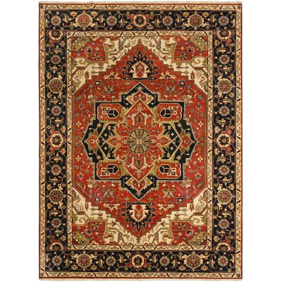 One-of-a-Kind Serapi Heritage Hand-Knotted Dark Copper Area Rug Rug Size: 101 x 139
