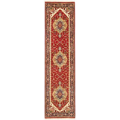 Serapi Heritage Hand-Knotted Dark Copper Area Rug
