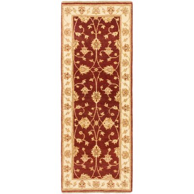 One-of-a-Kind Peshawar Oushak Hand-Knotted Cream Area Rug Rug Size: Runner 24 x 62