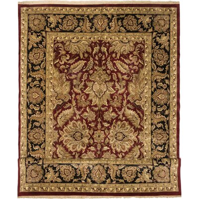 One-of-a-Kind Sultanabad Hand-Knotted Dark Red Area Rug