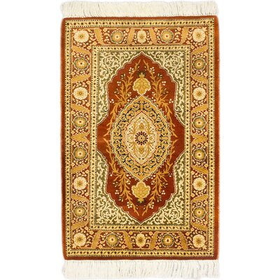 One-of-a-Kind Armistead Hand-Knotted Red/Gold Area Rug