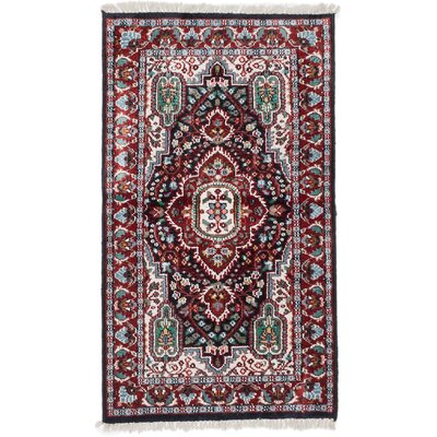 Kashmir Kerman Hand-Knotted Dark Copper Area Rug