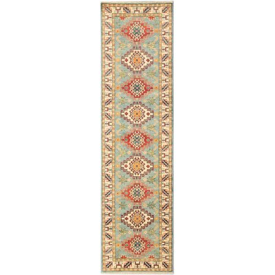 Finest Gazni Hand-Knotted Light Blue Area Rug