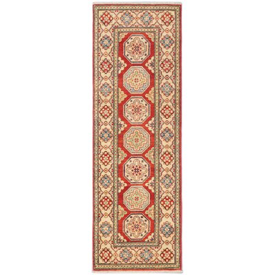 Finest Gazni Hand-Knotted Cream Area Rug