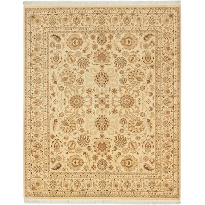 Peshawar Finest Hand-Knotted Cream Area Rug