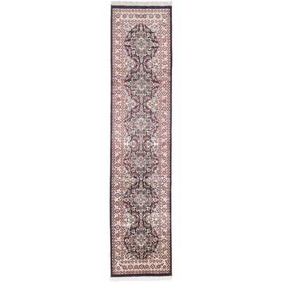 One-of-a-Kind Kashmir Kerman Hand-Knotted Taupe Area Rug