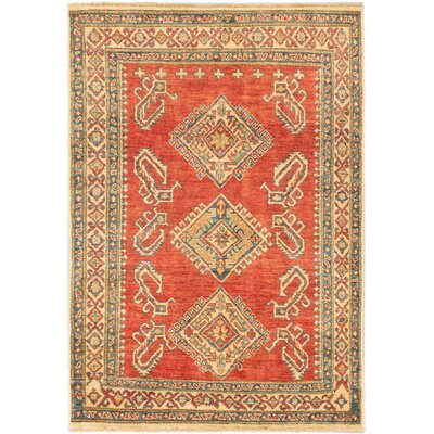 One-of-a-Kind Finest Gazni Hand-Knotted Dark Copper Area Rug