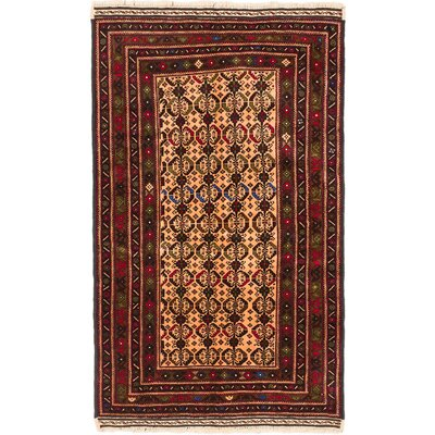 One-of-a-Kind Finest Mouri Hand-Knotted Ivory/Red Area Rug