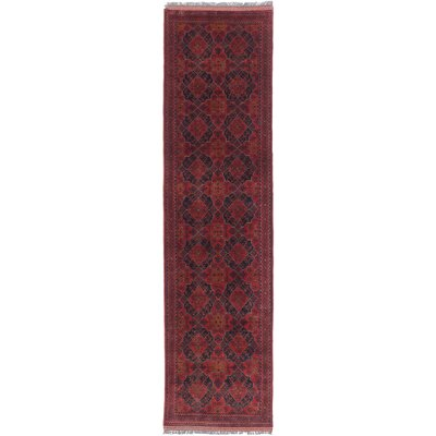Finest Khal Mohammadi Hand-Knotted Black/Red Area Rug