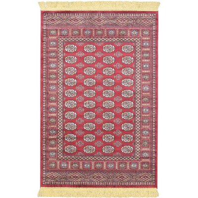 Dalton Red Area Rug Rug Size: 31 x 47