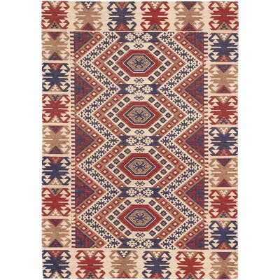 Bastian Hand-Tufted Blue/Red Area Rug