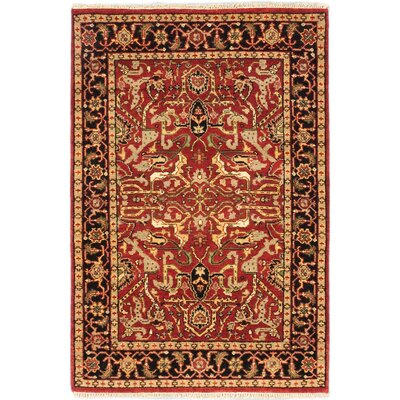 Louisa Hand-Knotted Red/Brown Area Rug