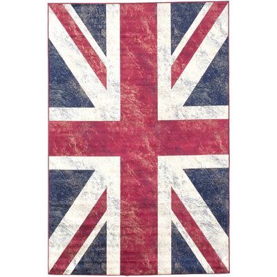 Union Navy/Red Area Rug