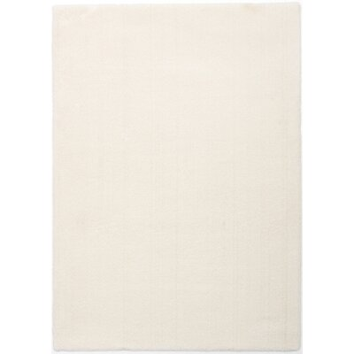 White Area Rug Rug Size: 51 x 7