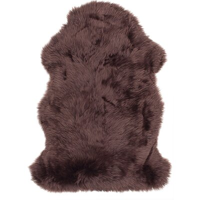 Luxurious Hand Woven Sheepskin Chocolate Area Rug
