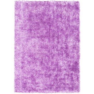 Hand-Tufted Violet Magenta Area Rug