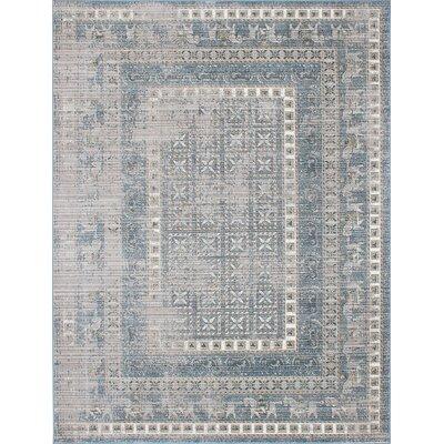 Paradis Navy/Gray Area Rug Rug Size: 82 x 1010