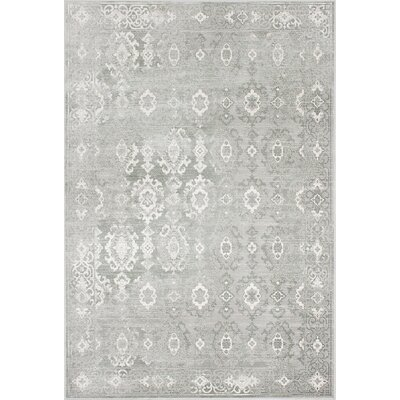 Brylee Cream/Gray Area Rug Rug Size: 53 x 77