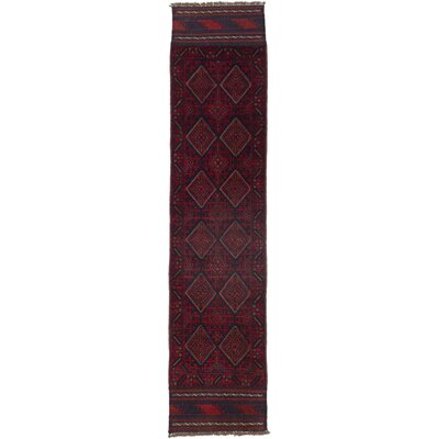 Tajik Caucasian Hand-Knotted Red Area Rug
