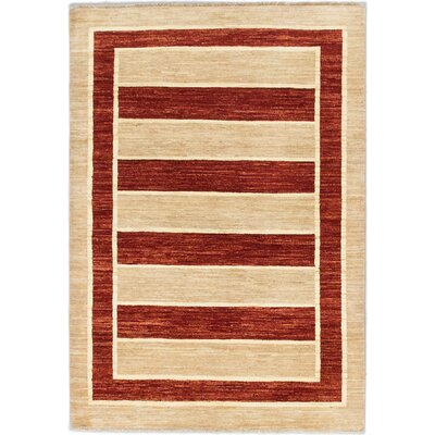 One-of-a-Kind Peshawar Ziegler Hand-Knotted Ivory Area Rug