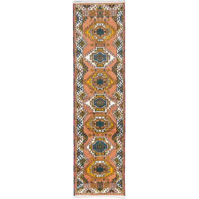 One-of-a-Kind Kazak Hand-Knotted Ivory Area Rug