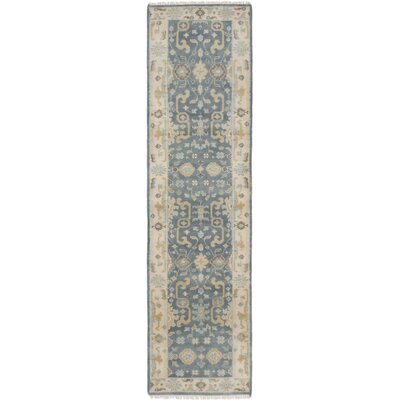 Royal Ushak Hand-Knotted Gray and Ivory Area Rug