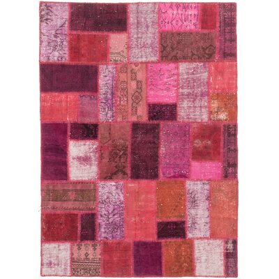 One-of-a-Kind Color Transition Hand-Knotted Purple Area Rug