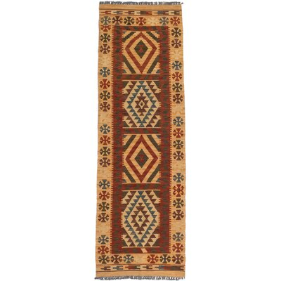 Hereke Hand-Woven Orange and Red Area Rug