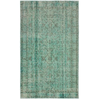Color Transition Hand-Knotted Blue Area Rug