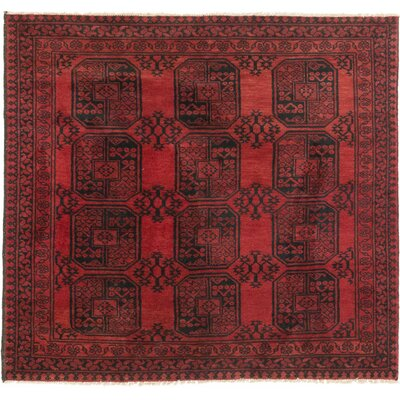 Bourkel Hand-Knotted Black Area Rug